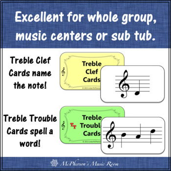 Treble Clef Treble Trouble with Ledger Lines  {Interactive Music Game}
