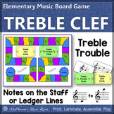 Treble Clef Treble Trouble {music board game for reviewing