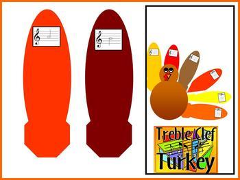 Treble Clef Turkey -Thanksgiving Bulletin Board for Music Class