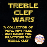 Treble Clef Wars {A Bundled Set of MP4s, PDFs and Games for the Treble Staff}