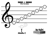 Treble Clef With Notes / MrMikesMusicMats