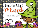 Treble Clef Wizards: Practice & Review Game for the Kodaly or Orff Classroom