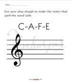 Treble Clef Word Play Dough Activity Sheets