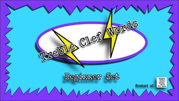Treble Clef Words PowerPoint Beginner