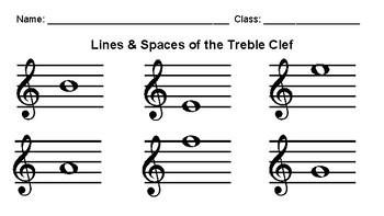 Treble Clef Worksheets