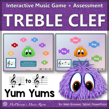 Treble Clef Interactive Music Game {Yum Yums}