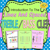 Treble Clef and Bass Clef (Lines and Spaces on the Staff) FREEBIE!