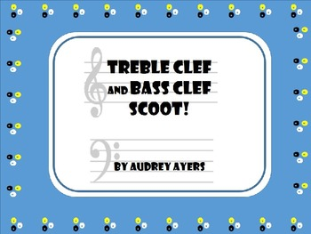 Treble Clef and Bass Clef Note Name SCOOT! Game