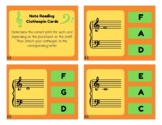 Treble Clef and Bass Clef Note Reading Clip Cards