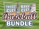 Treble Clef and Bass Clef Baseball PowerPoint Game BUNDLE