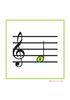 16 Treble Clef and Bass Clef Singular Note Posters