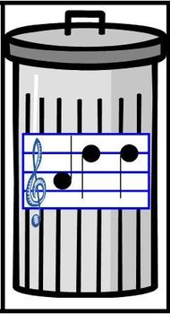 Treble Clef and Recorder Matching Game - Fly and Trashcan Edition