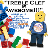 Treble Clef is AWESOME!!  A MEGA Set of Building Activities for the Treble Clef