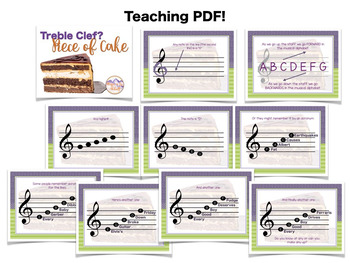 Treble Clef is a Piece of Cake! {A bundled set of activities & games)