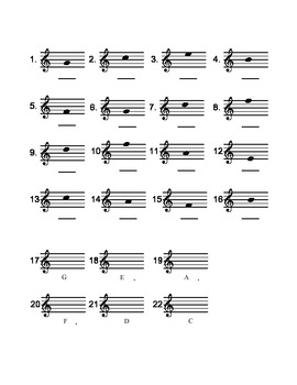 Treble Line and Space Assessment