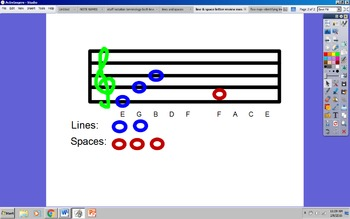 Treble Line and Space Review (Ineractive Whiteboard Activity)