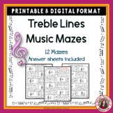 Music Games: Treble Pitch Lines: Music Theory Maze Puzzles