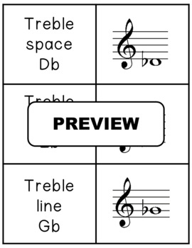 Music Game: Treble Notes MEMORY