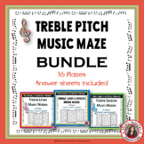 Music Notes: Treble Pitch Music Games: 36 Maze Puzzles Bundle