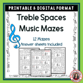 Music Games: Treble Pitch Maze Puzzles for Treble Note Spaces