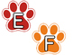 Treble Staff Display - Paw Prints