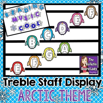 Treble Staff Display - Reading Music is Cool -Arctic Theme