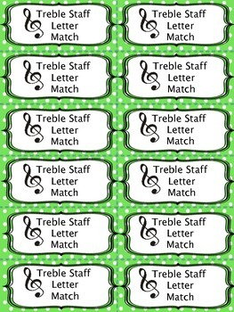 Treble Staff Letter Match Game