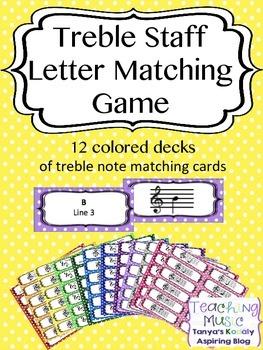 Treble Staff Letter Match Game