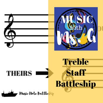 Treble Staff Music Battleship