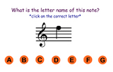 Treble Staff Note Identification Game