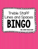 Treble Staff Notes BINGO- Lines and Spaces