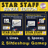 Distance Learning Treble Staff Notes Game Space Themed *BU
