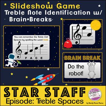 Treble Staff Space Notes Game Space Themed