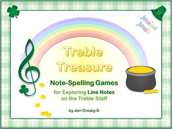 Treble Treasure - 28 Note-Spelling Words for Treble Lines