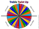 Treble Twist Up Board-Use with floor staff to review pitch names!