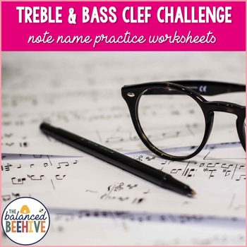 Treble and Bass Challenge - Treble and Bass Clef Note Identification Practice