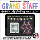 Treble and Bass Clef Boom Cards™: 100 Note Challenge for H