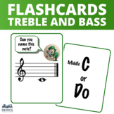 Treble and Bass Clef Flash Cards - C and Do