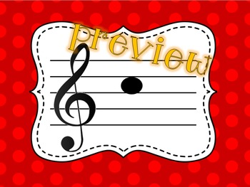 Treble and Bass Clef Note Name Powerpoint Game