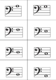 Treble and Bass Clef Notes, piano keyboard Flashcards (DIGITAL PDF FILE)