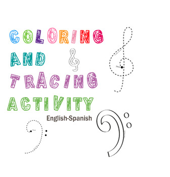 Treble and Bass Clefs Color and Trace Activity