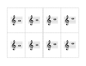 Treble and Bass Musical Memory Game