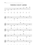 Treble clef lines including ledger lines down to low A and