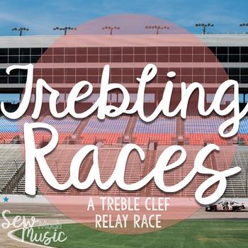 Trebling Races: A treble clef relay rac