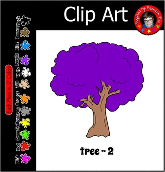 Tree #2 Clip Art Free for Commercial Use ~ 12 Colors ~ Rai