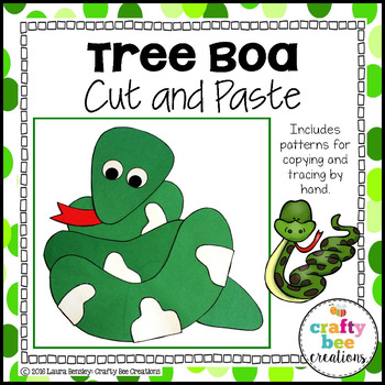 Tree Boa Cut and Paste