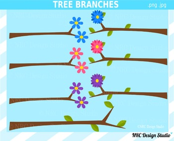 Tree Branches Clip Art for Personal and Commercial Use