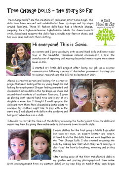 Tree Change Dolls, an upcycling activity