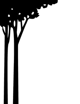 Tree Clip Art - Dual set with and w/o background