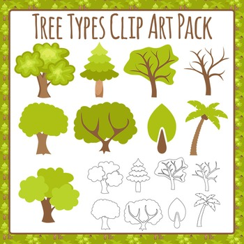 Tree Clip Art Pack for Commercial Use